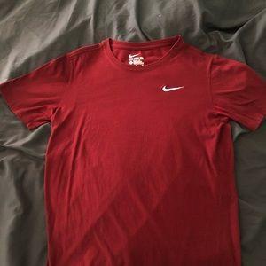 """The Nike Tee"" Red Nike Short Sleeve Shirt"